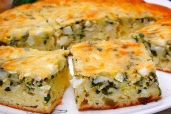 Лучший рецепт заливного пирога с луком и яйцом