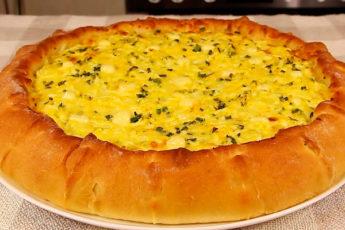 Пирог с сыром и яйцами