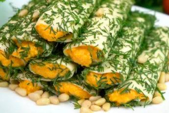 Закуска из сыра и моркови по-корейски