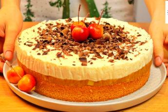 Яблочный торт со сливочно-творожным кремом