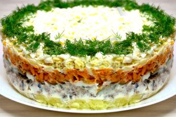 Салат со шпротами - вкусно и просто!