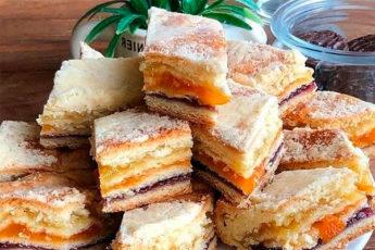 Пирог с тремя начинками — покорит сердце любого сладкоежки