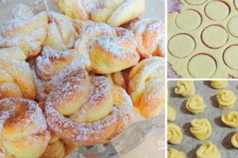 Нежное печенье «Роза» из творожного теста. Готовится очень легко