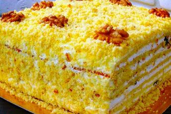 Торт «Молочная девочка», очень нежный и вкусный