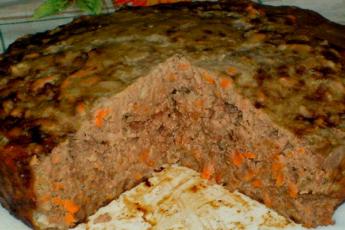 Сочный и вкусный печеночный пирог