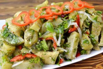 Маринованные баклажаны с болгарским перцем: мгновенный рецепт