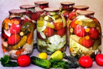 Ассорти из овощей на зиму. Проверенный годами рецепт консервации