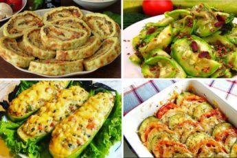 Блюда из кабачка — 4 оригинальных рецепта