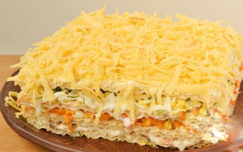 Селедочный торт: очень нежная закуска