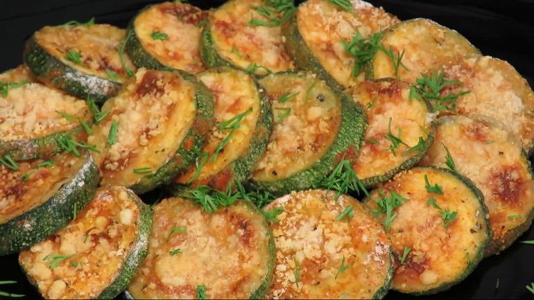 Хрустящие кабачки с сыром из духовки