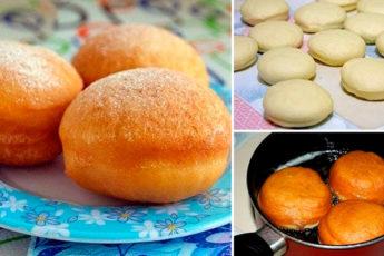 Пушистые пончики со вкусной начинкой