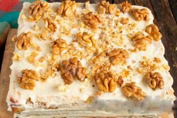 Торт «Наташа» с грецкими орехами