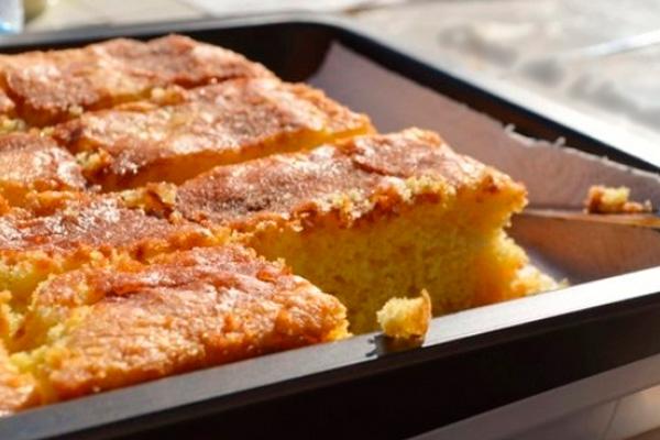 Бисквитный пирог с корицей «Coca de llanda»