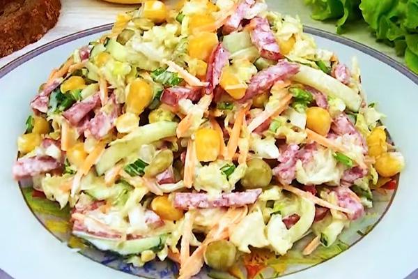 Свежий салат: быстро и вкусно, варить ничего не нужно