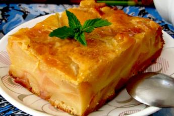 Итальянский грушевый пирог